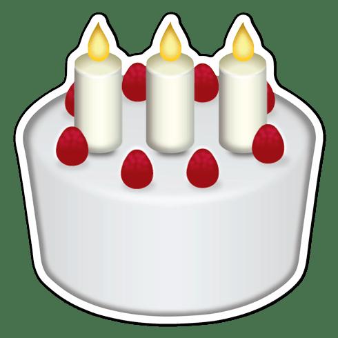 Aufkleber Emoji Geburtstagskuchen