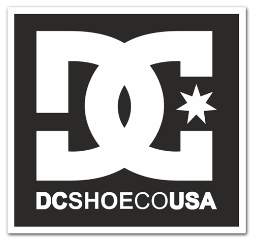 Aufkleber: DC SHOE CO USA