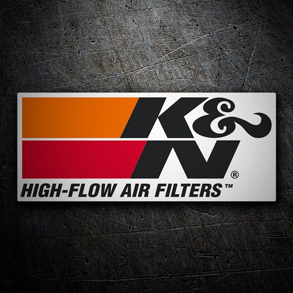 Aufkleber: K&N High-Flow Air Filters 1