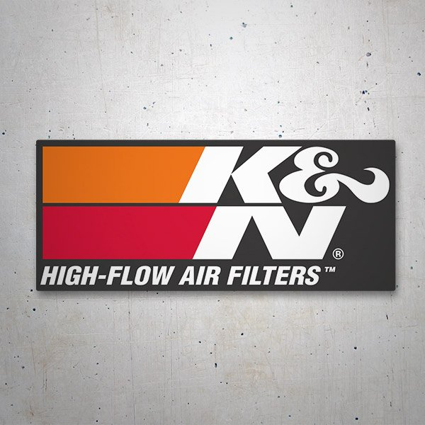 Aufkleber: K&N High-Flow Air Filters 2 1