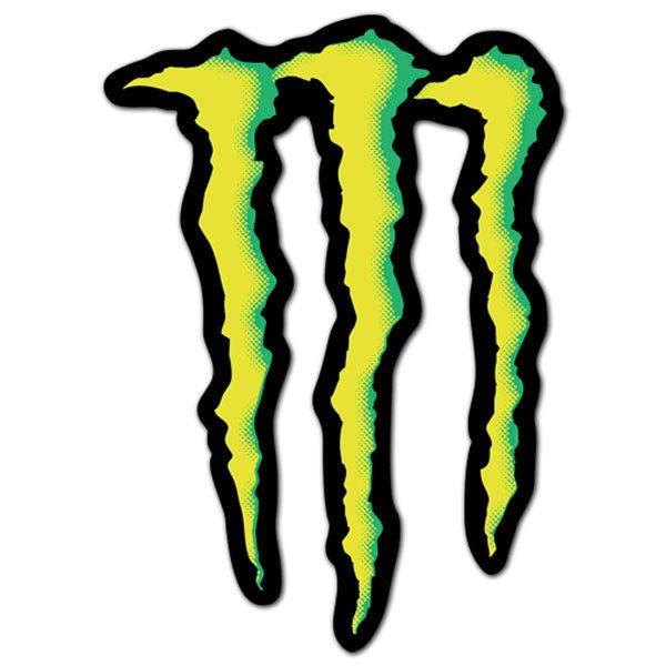 aufkleber monster energy logo. Black Bedroom Furniture Sets. Home Design Ideas