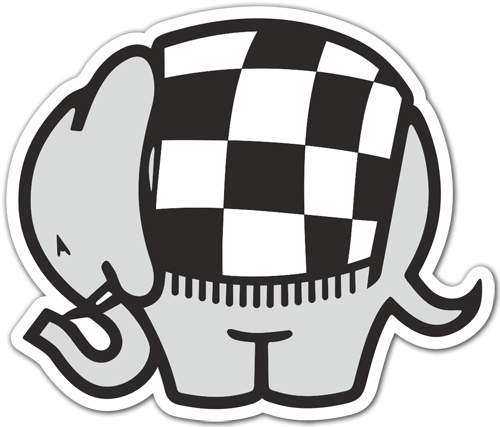 Aufkleber: Cagiva Elefant Racing