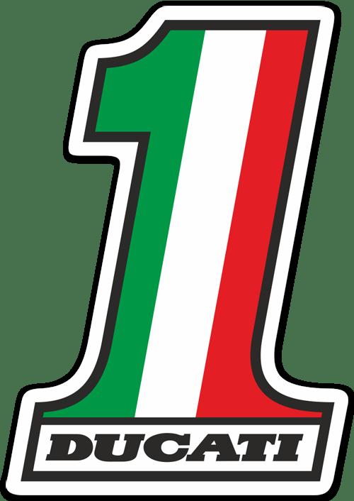 Aufkleber: Ducati Nummer 1
