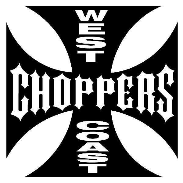 Aufkleber: West Choppers Coast