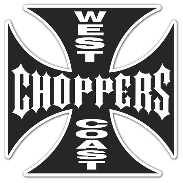 Aufkleber: West Choppers Coast 2
