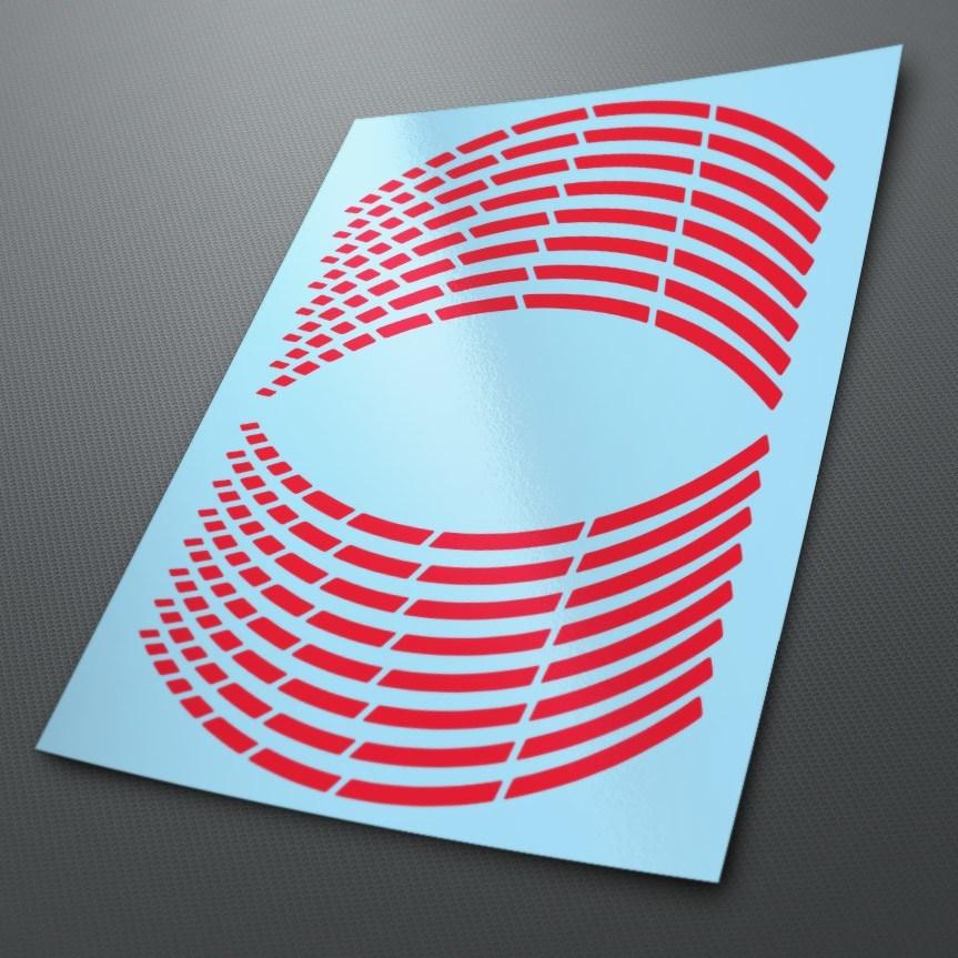 Aufkleber: Neon Moto GP Style kit Felgenrandaufkleber 10 mm.