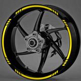 Aufkleber: Neon MotoGP Style 3 kit Felgenrandaufkleber 3