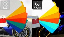 Aufkleber: Neon MotoGP Style 3 kit Felgenrandaufkleber 5