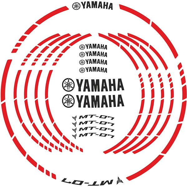 motogp yamaha mt 07 kit felgenrandaufkleber. Black Bedroom Furniture Sets. Home Design Ideas