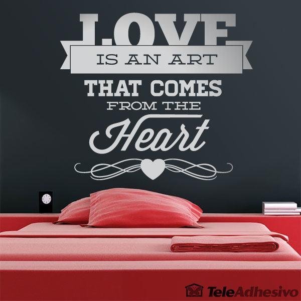 Wandtattoos: Love is an Art
