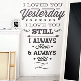 Wandtattoos: I Loved You Yesterday 2