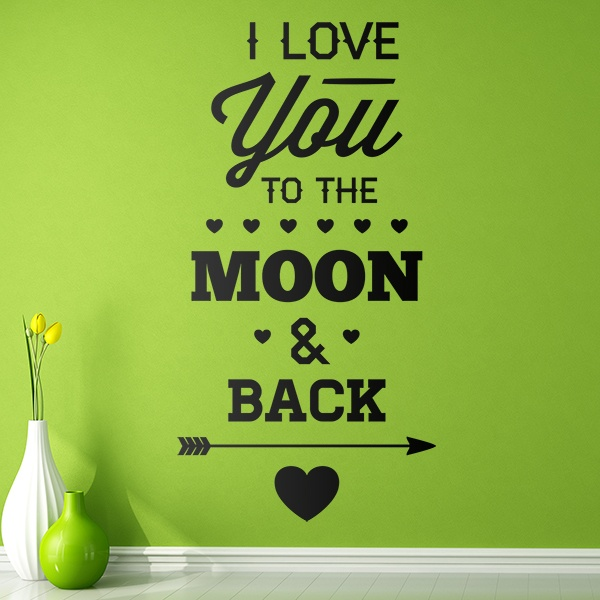 Wandtattoos: I Love You to the Moon