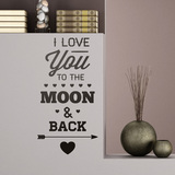 Wandtattoos: I Love You to the Moon 0
