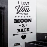 Wandtattoos: I Love You to the Moon 2