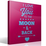 Wandtattoos: I Love You to the Moon 3