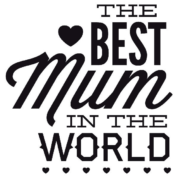 Wandtattoos: The Best Mum in the World