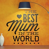 Wandtattoos: The Best Mum in the World 0