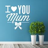 Wandtattoos: I Love You Mum 0