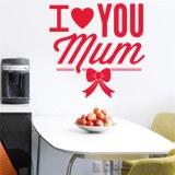 Wandtattoos: I Love You Mum 1