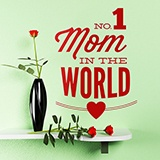 Wandtattoos: No 1 Mom in the World 0