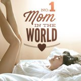 Wandtattoos: No 1 Mom in the World 2