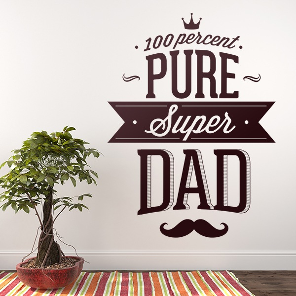 Wandtattoos: 100 Percent Pure Super Dad