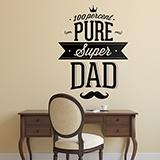 Wandtattoos: 100 Percent Pure Super Dad 0