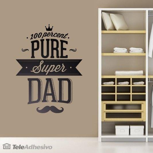 Wandtattoos: 100 Percent Pure Super Dad