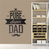 Wandtattoos: 100 Percent Pure Super Dad 2