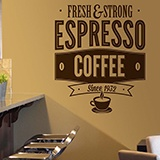 Wandtattoos: Fresh & Strong Espresso Coffee 1