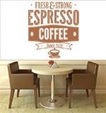 Wandtattoos: Fresh & Strong Espresso Coffee 3