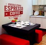 Wandtattoos: Fresh & Strong Espresso Coffee 4