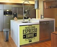 Wandtattoos: Fresh & Strong Espresso Coffee 6
