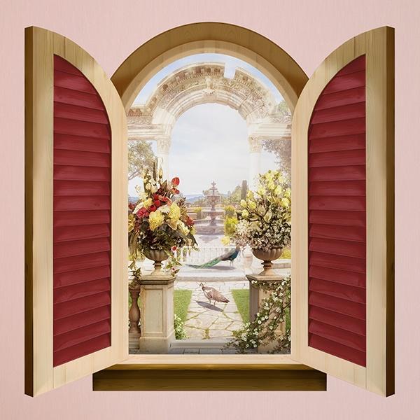 Fenster bogen von rom for Wandtattoo fenster