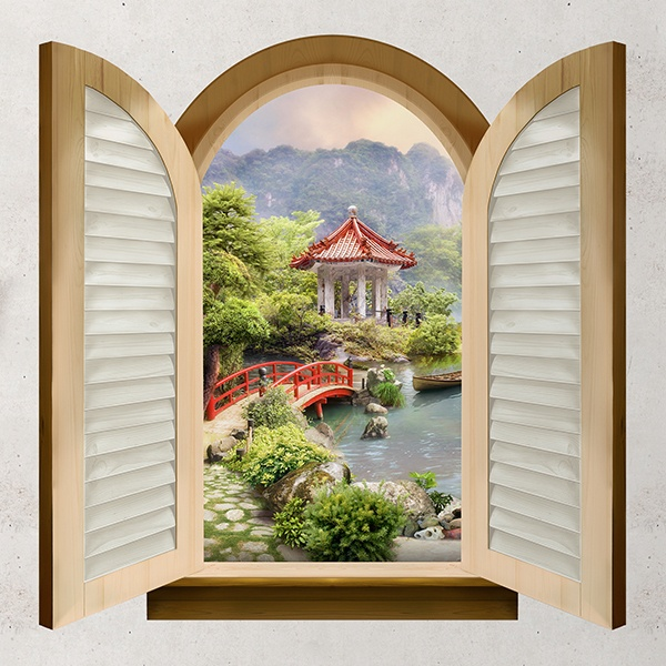 Fenster orientalische kiosk for Wandtattoo fenster