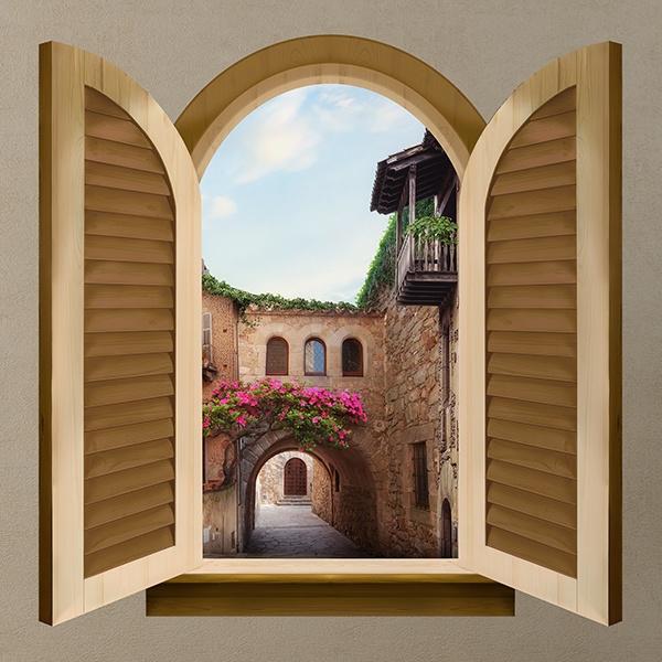 Fenster italienische stadt - Wandtattoo italienische spruche ...