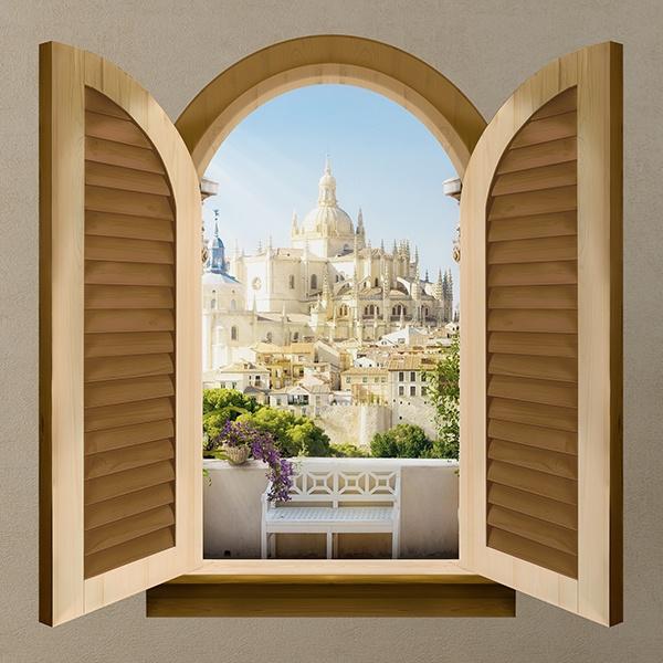 Fenster kathedrale von segovia for Wandtattoo fenster
