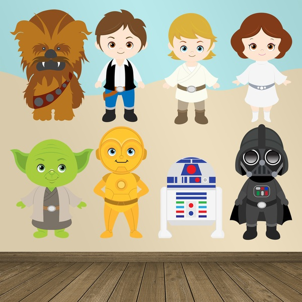 Kinderzimmer Wandtattoo: Star Wars-Kit