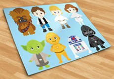 Kinderzimmer Wandtattoo: Star Wars kit 5