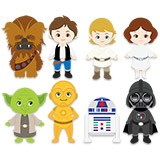 Kinderzimmer Wandtattoo: Star Wars kit 6
