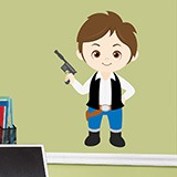 Kinderzimmer Wandtattoo: Han Solo 3