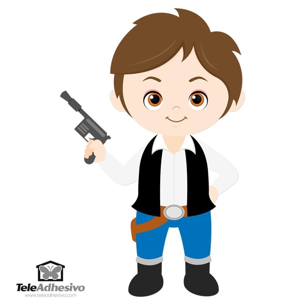 Kinderzimmer Wandtattoo: Han Solo