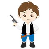 Kinderzimmer Wandtattoo: Han Solo 6