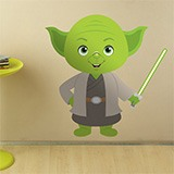 Kinderzimmer Wandtattoo: Yoda 3