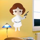 Kinderzimmer Wandtattoo: Prinzessin Leia 1