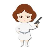 Kinderzimmer Wandtattoo: Prinzessin Leia 4