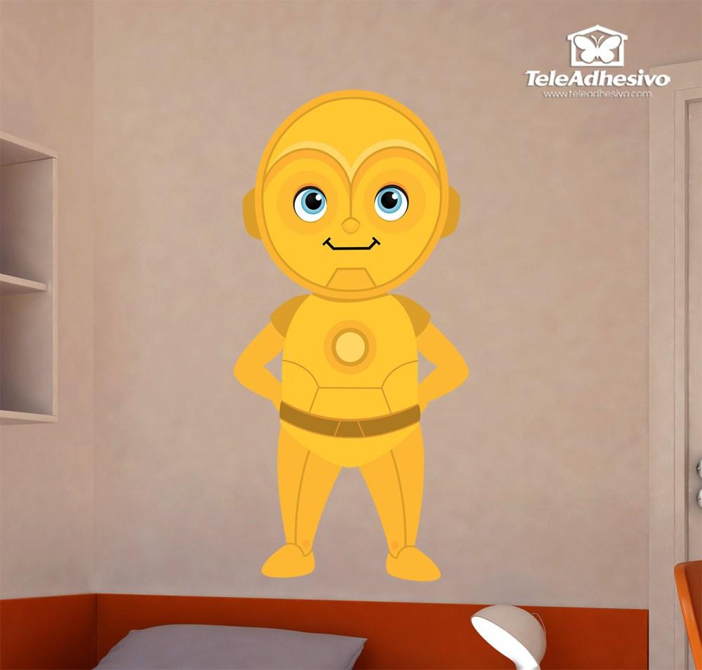 Kinderzimmer Wandtattoo: C3po lächelnd
