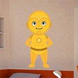 Kinderzimmer Wandtattoo: C3po lächelnd 3