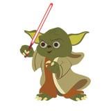 Kinderzimmer Wandtattoo: Yoda Schwert 6