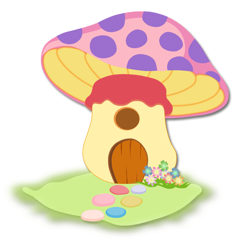 Kinderzimmer Wandtattoo: Purple Mushroom